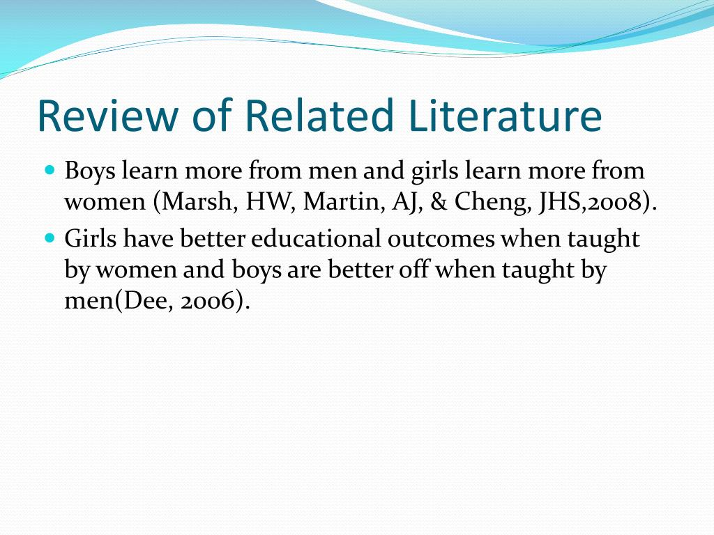 review of related literature on impacts A literature review on the business impacts of social network sites present a literature review of and a literature review on the business impacts.