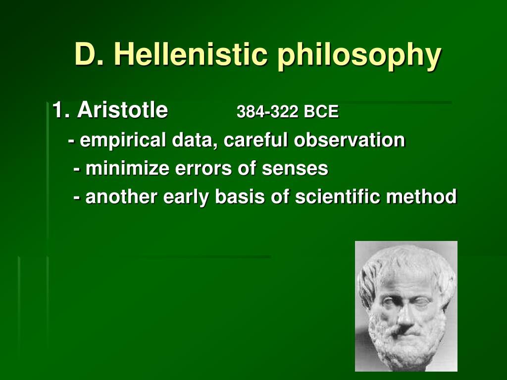 D. Hellenistic philosophy