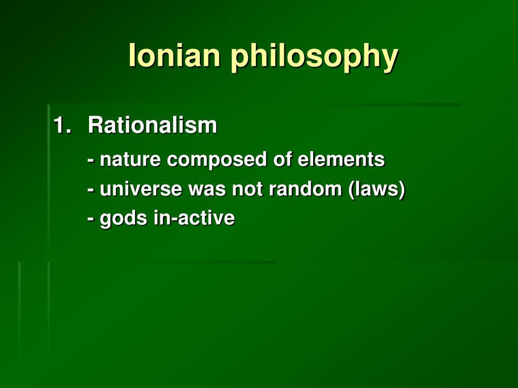 Ionian philosophy