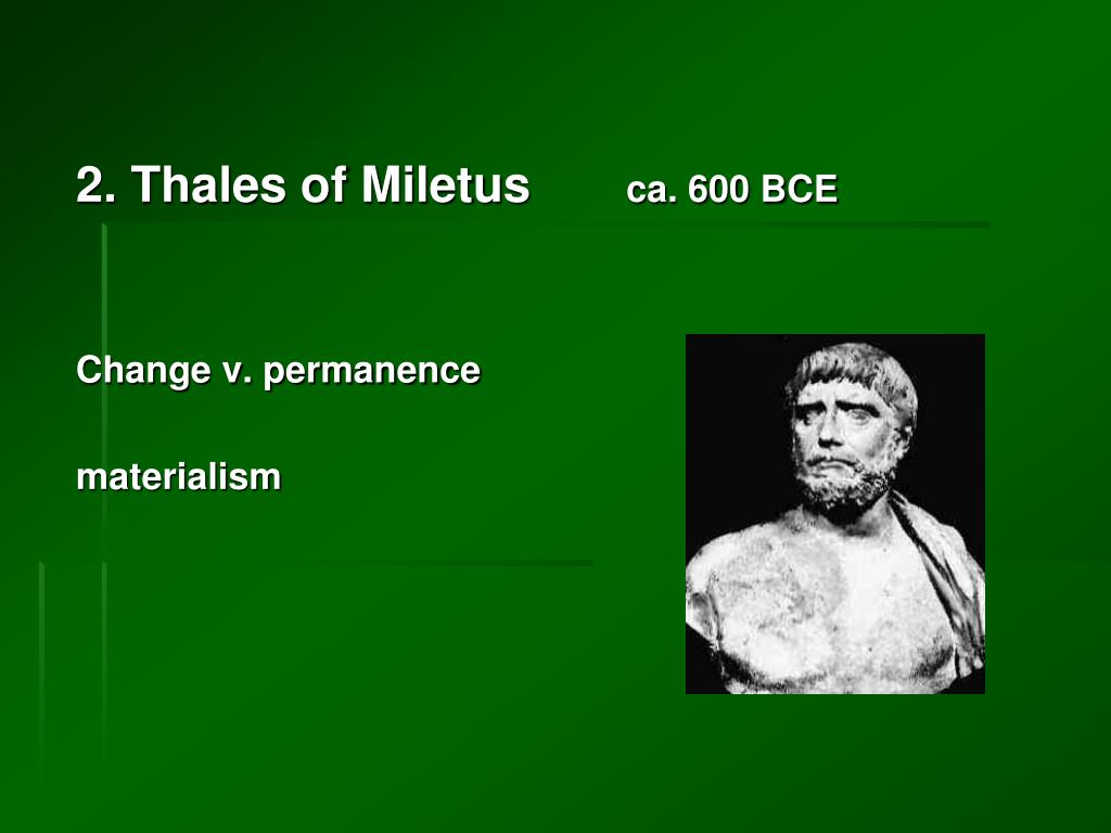 2. Thales of Miletus