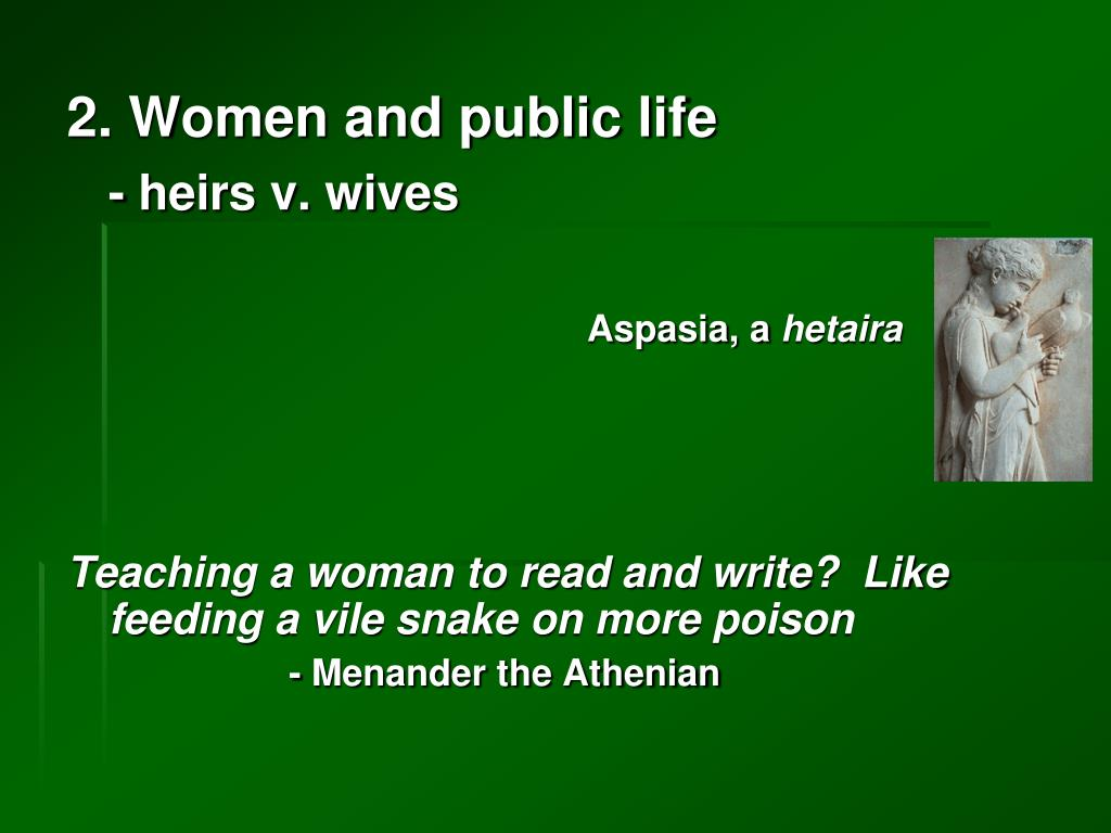 2. Women and public life