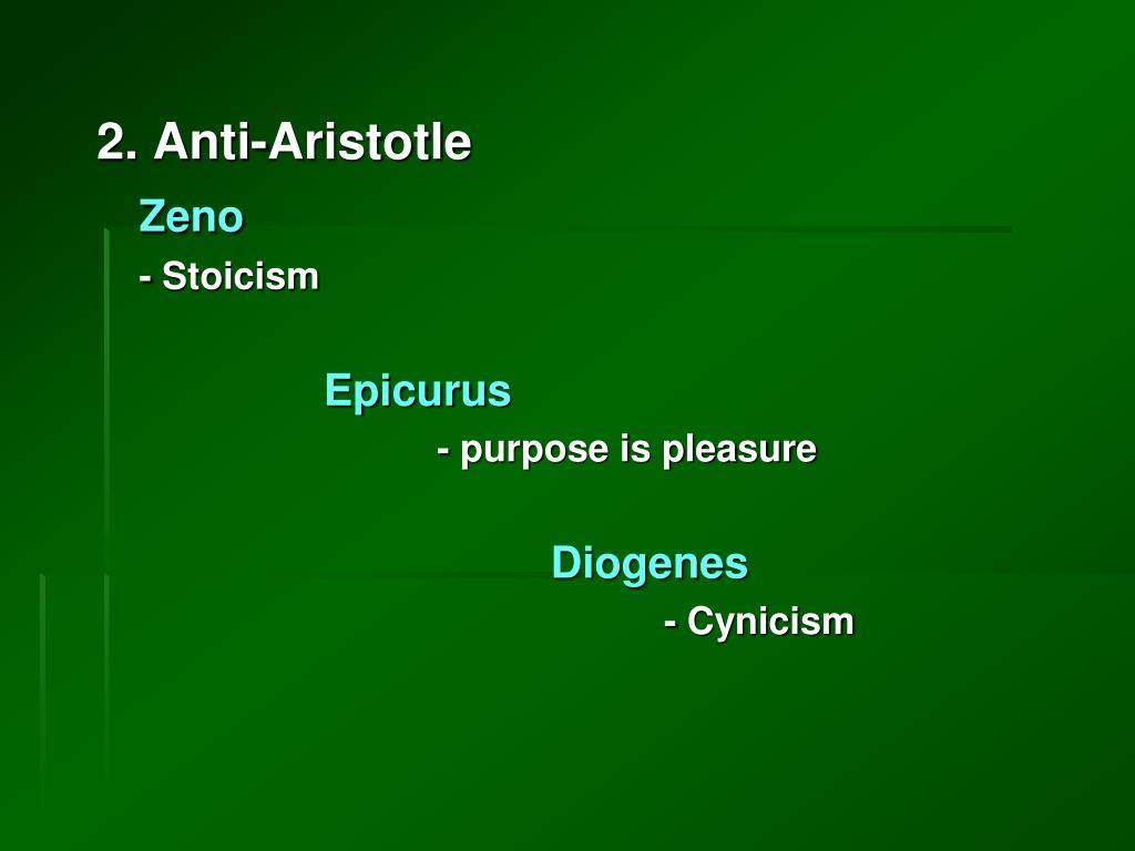2. Anti-Aristotle