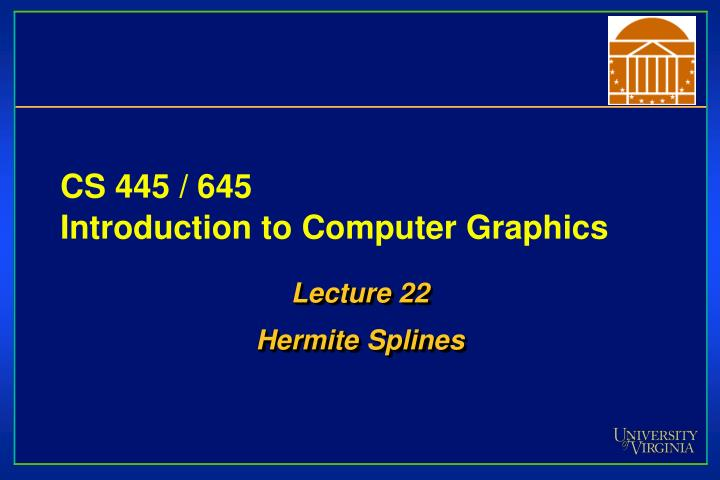 cs 445 645 introduction to computer graphics n.