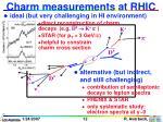 charm measurements at rhic
