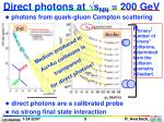 direct photons at s nn 200 gev