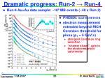 dramatic progress run 2 run 4