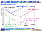 e from heavy flavor problem i