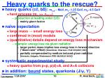 heavy quarks to the rescue