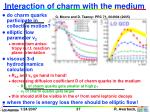 interaction of charm with the medium