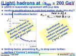 light hadrons at s nn 200 gev