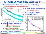 star d mesons versus e