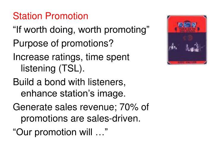 Station Promotion