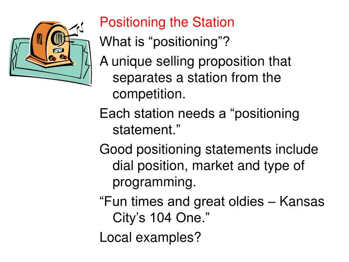 Positioning the Station