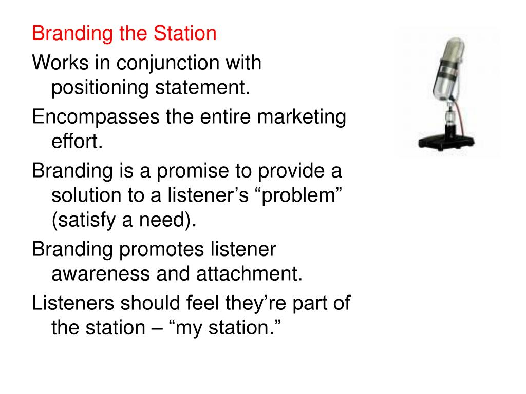 Branding the Station