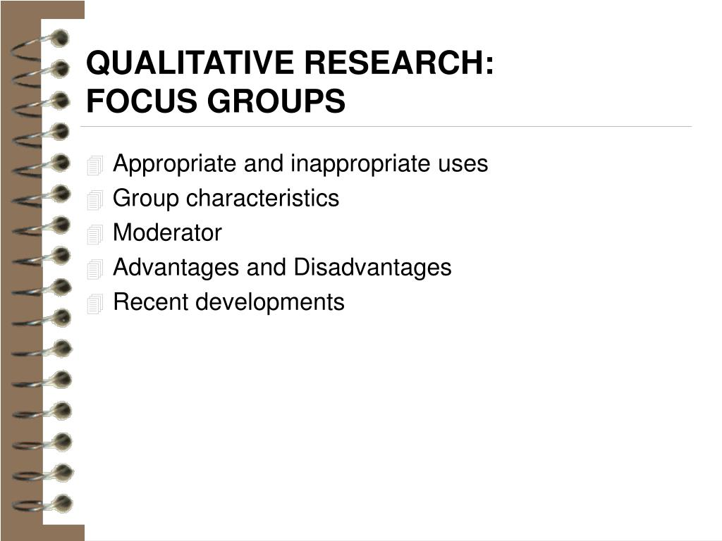 QUALITATIVE RESEARCH: