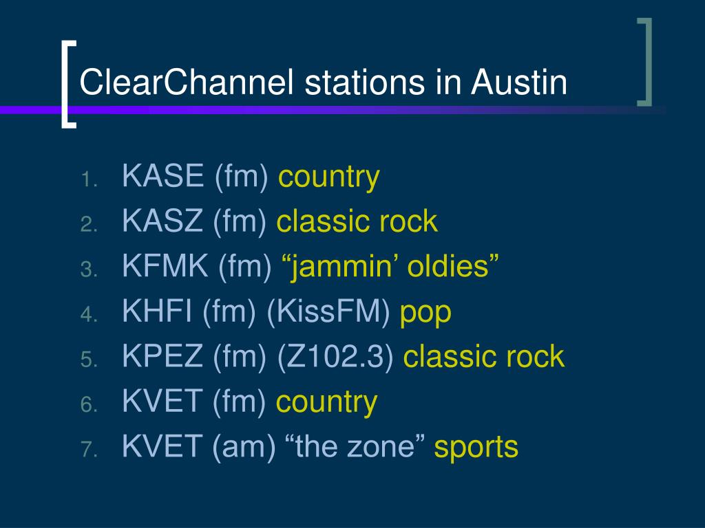 ClearChannel stations in Austin