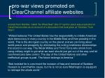 pro war views promoted on clearchannel affiliate websites22