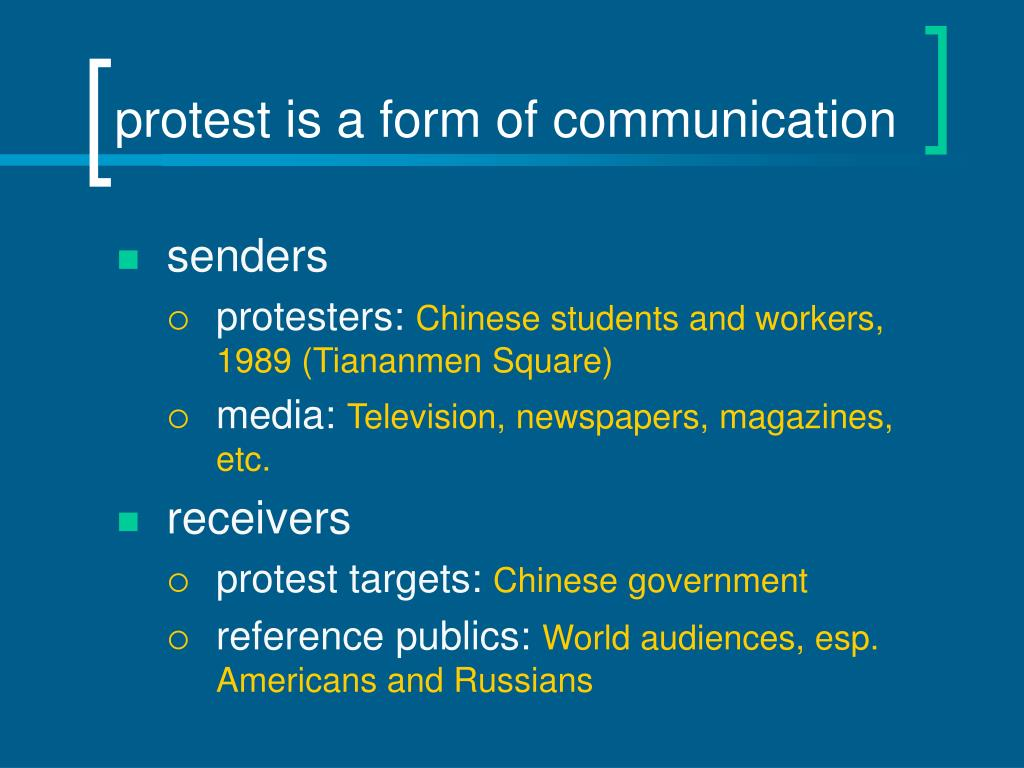 protest is a form of communication