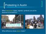 protesting in austin