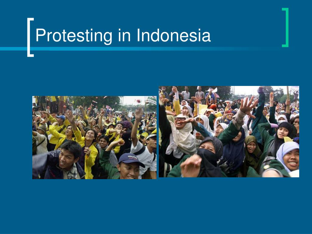 Protesting in Indonesia