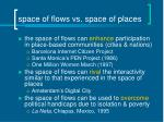 space of flows vs space of places