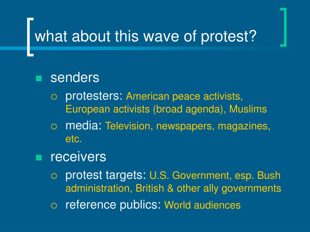 what about this wave of protest?