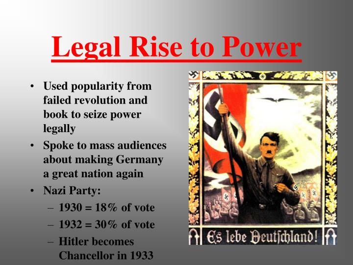 why did hitler rise to power essay Hitler's rise to power was a consequence of a number of contributing factors  essay about adolf hitler rise to power adolf hitler's.