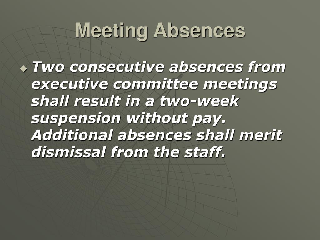Meeting Absences