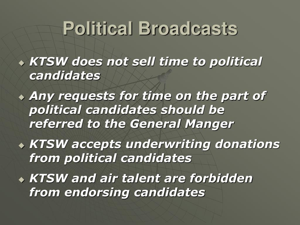 Political Broadcasts