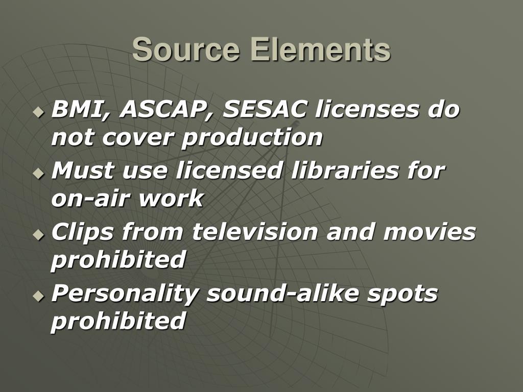 Source Elements