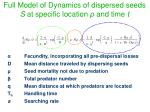 full model of dynamics of dispersed seeds s at specific location and time t