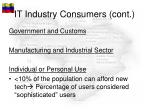 it industry consumers cont