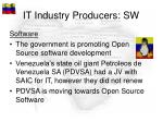 it industry producers sw