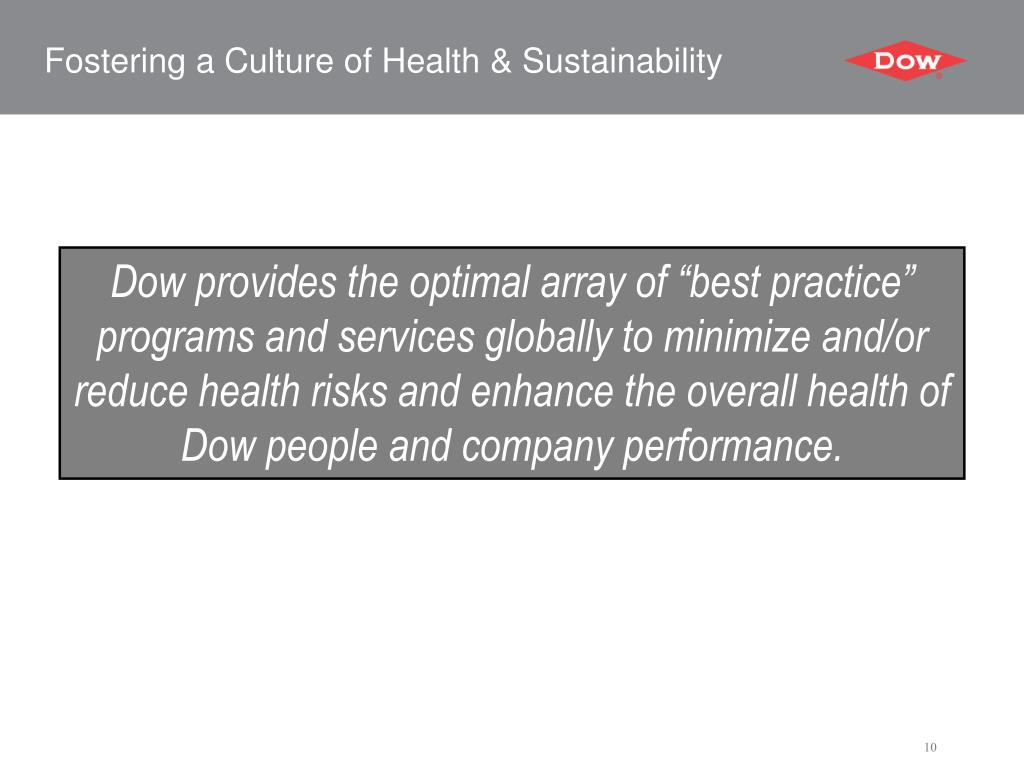 Fostering a Culture of Health & Sustainability