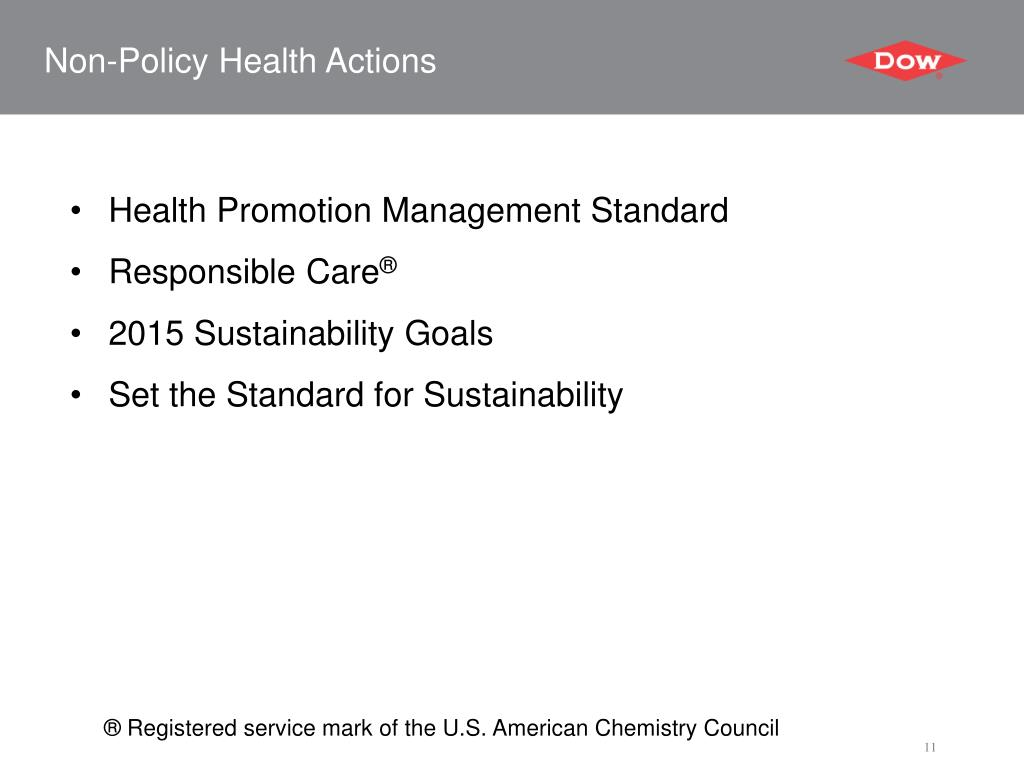 Non-Policy Health Actions