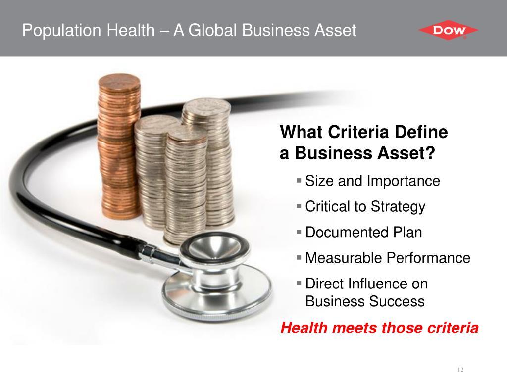 Population Health – A Global Business Asset