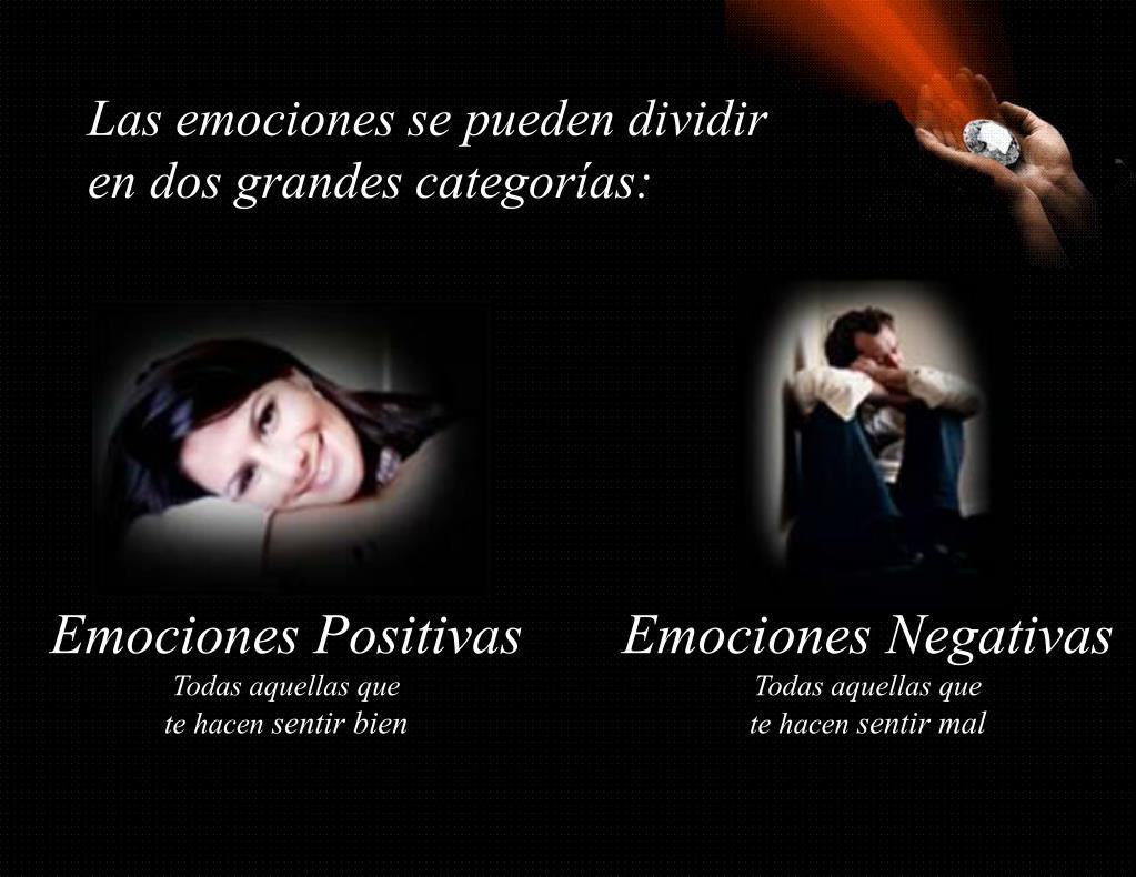 Las emociones se pueden dividir