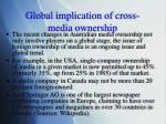 global implication of cross media ownership