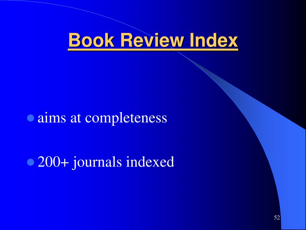 Book Review Index