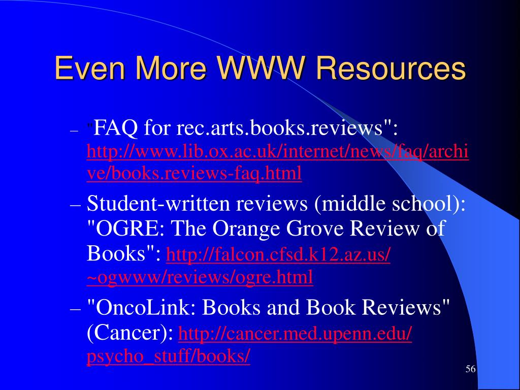 Even More WWW Resources