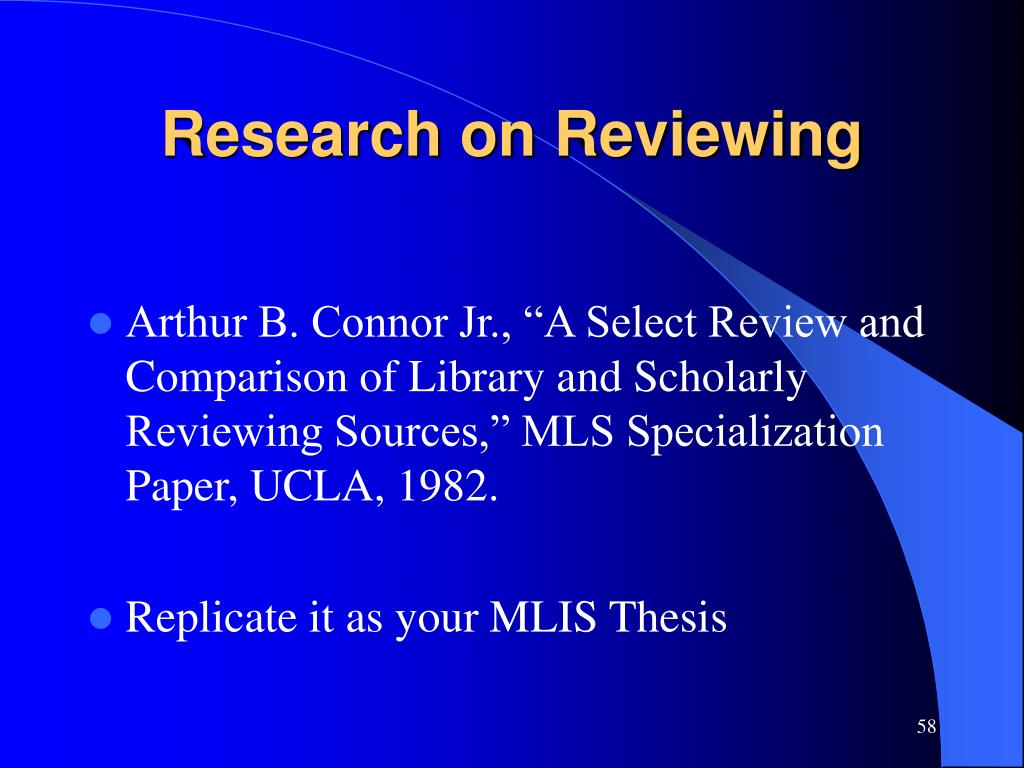 Research on Reviewing