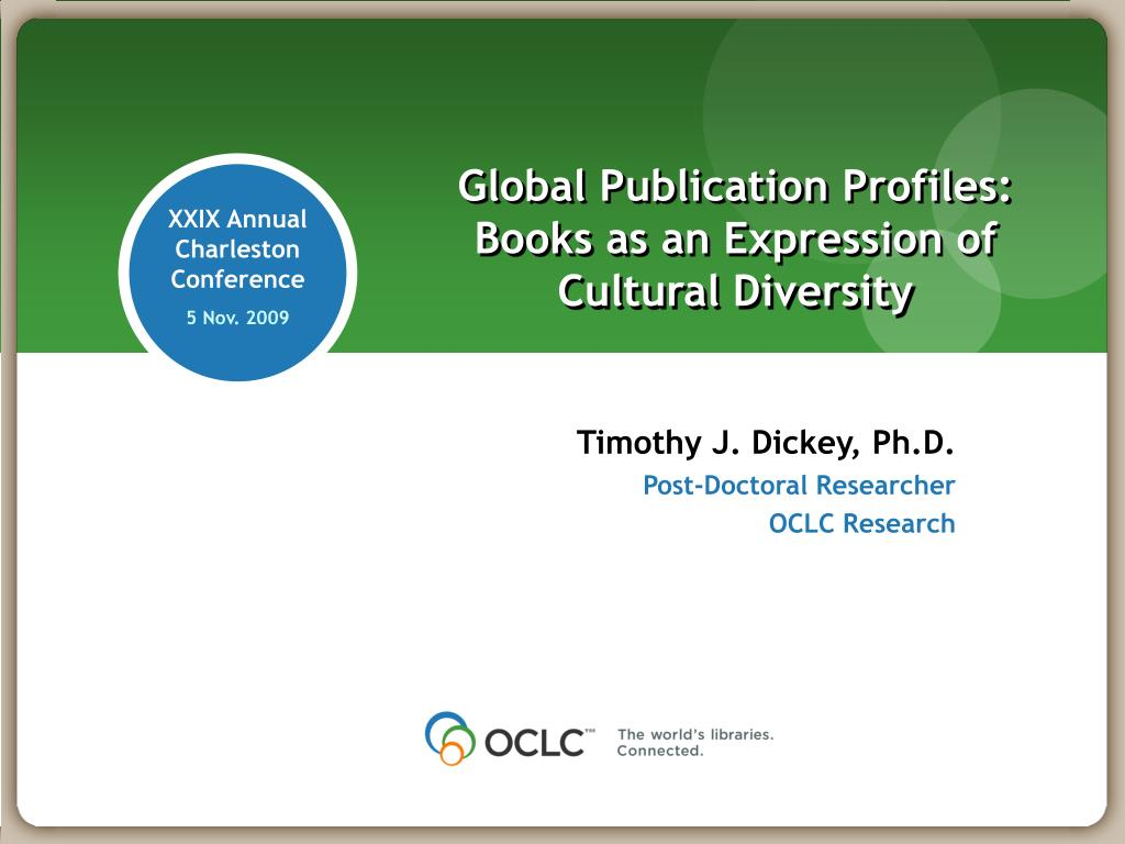 global publication profiles books as an expression of cultural diversity l.