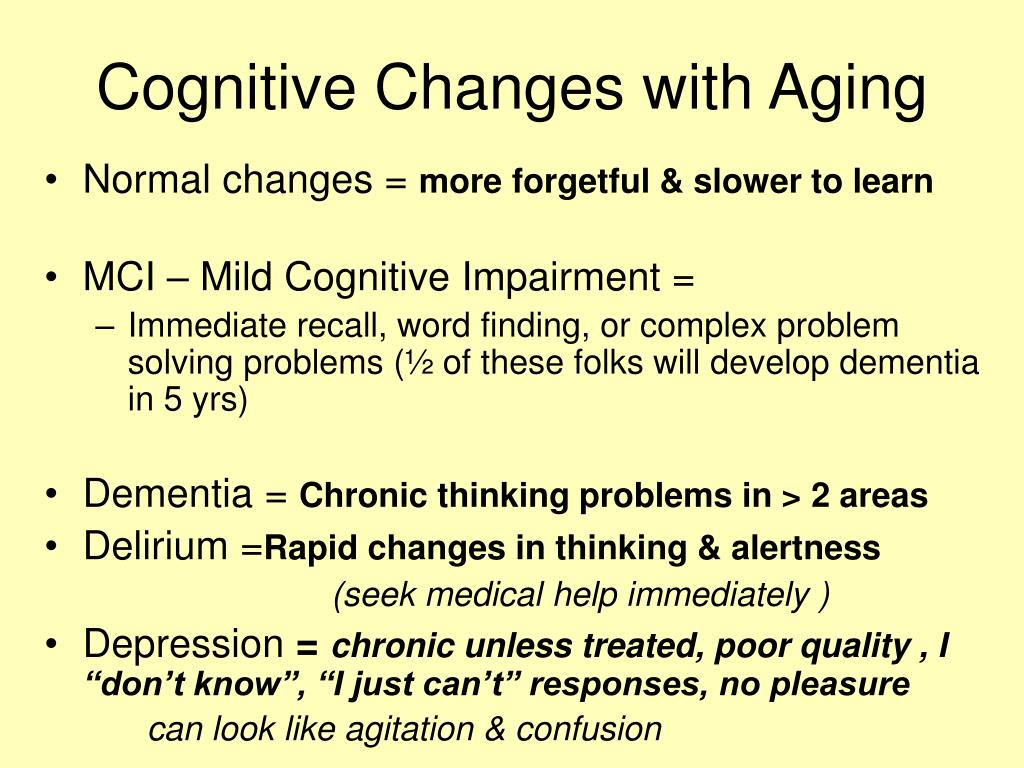 Cognitive Changes with Aging