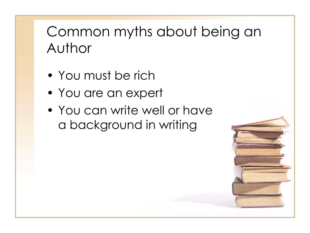 Common myths about being an Author