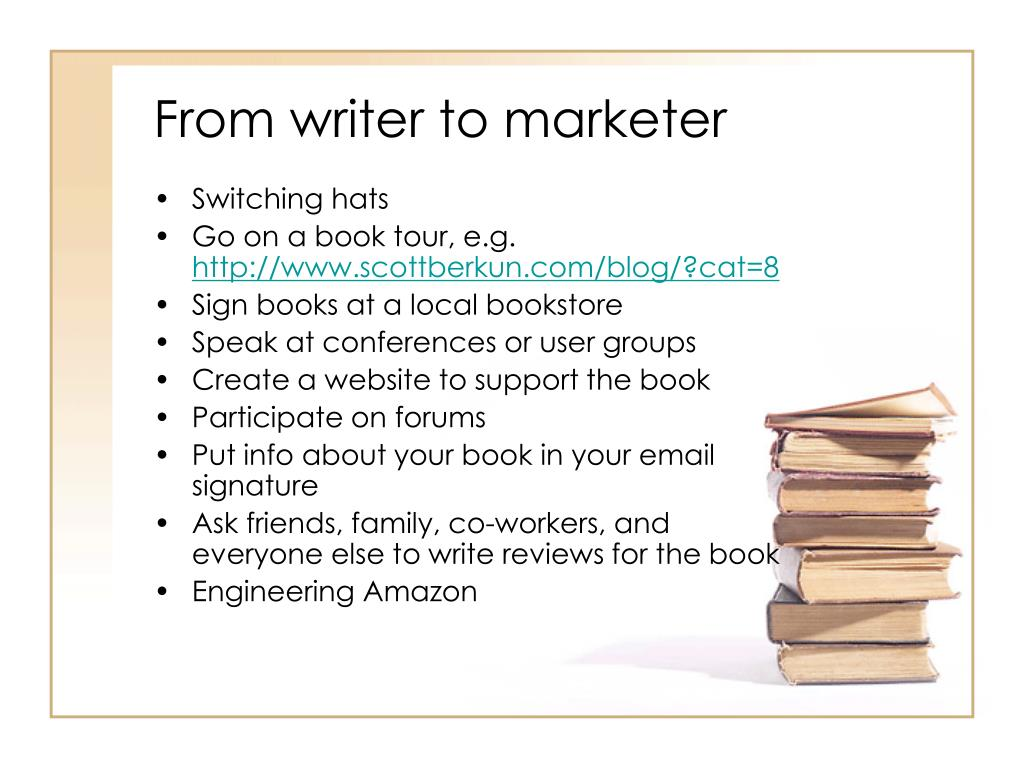 From writer to marketer