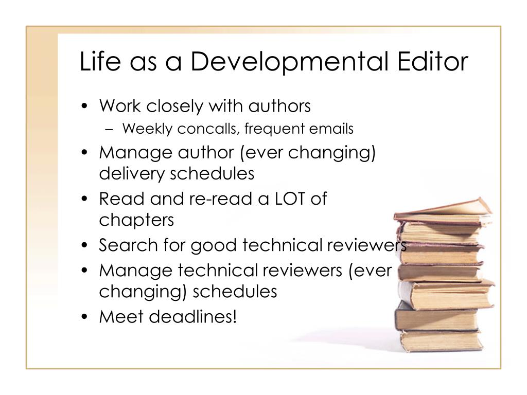 Life as a Developmental Editor