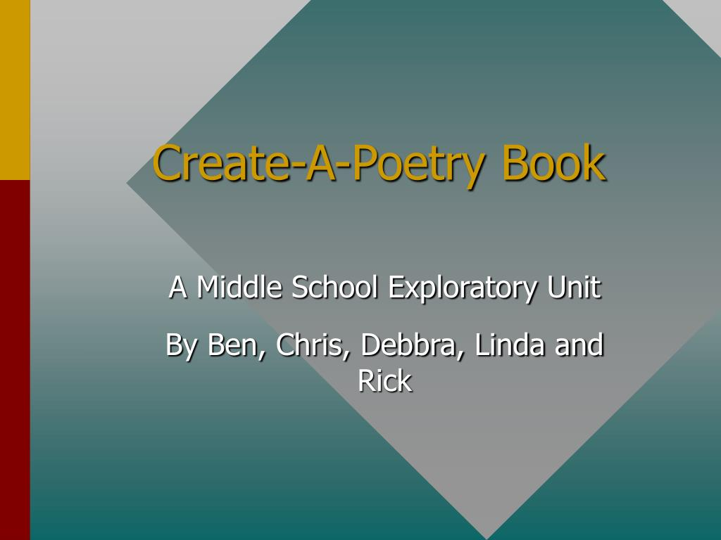 create a poetry book l.