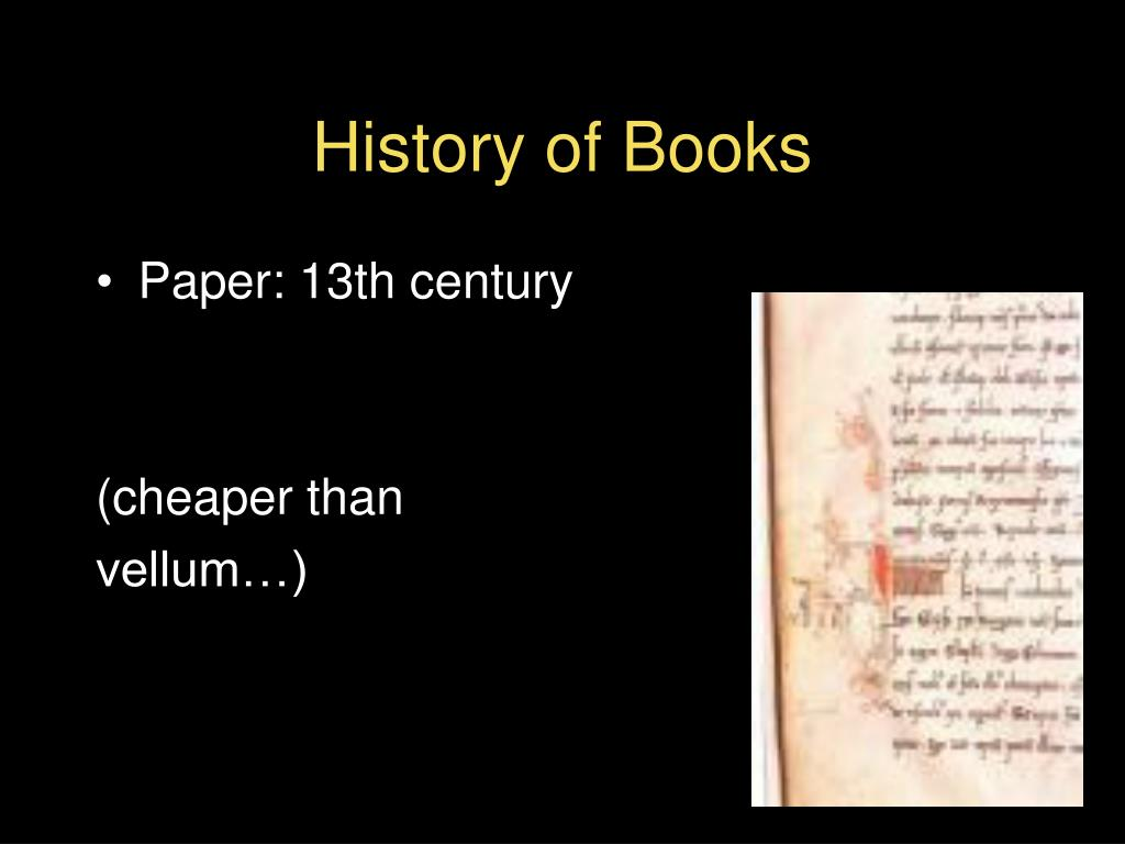 History of Books