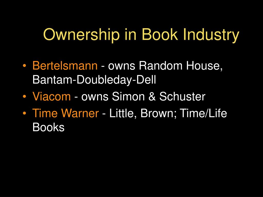 Ownership in Book Industry