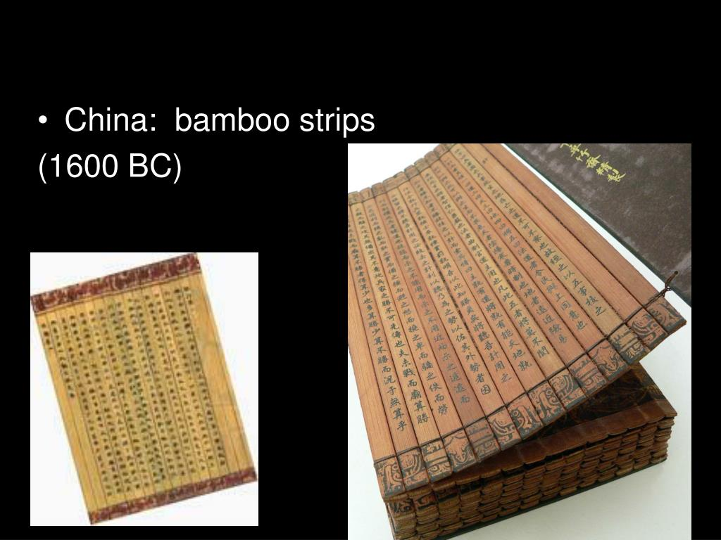 China:  bamboo strips
